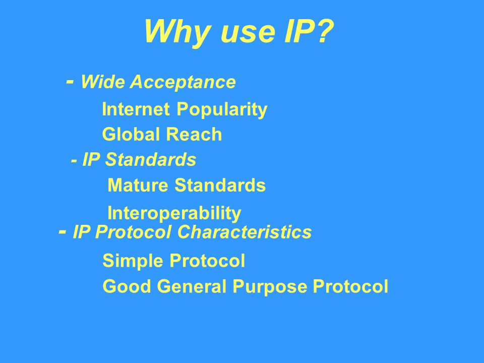 Why use IP.