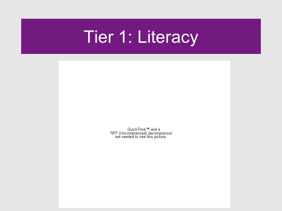 Tier 1: Literacy