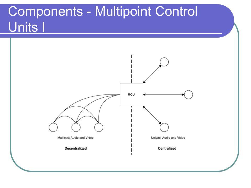 Components - Multipoint Control Units I