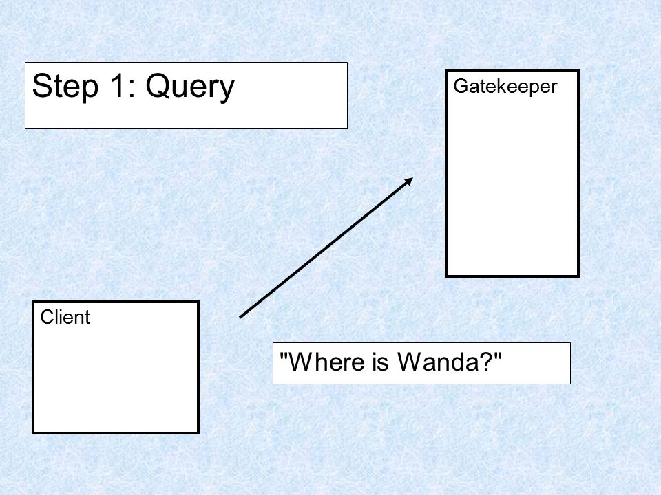 Client Gatekeeper Step 1: Query Where is Wanda