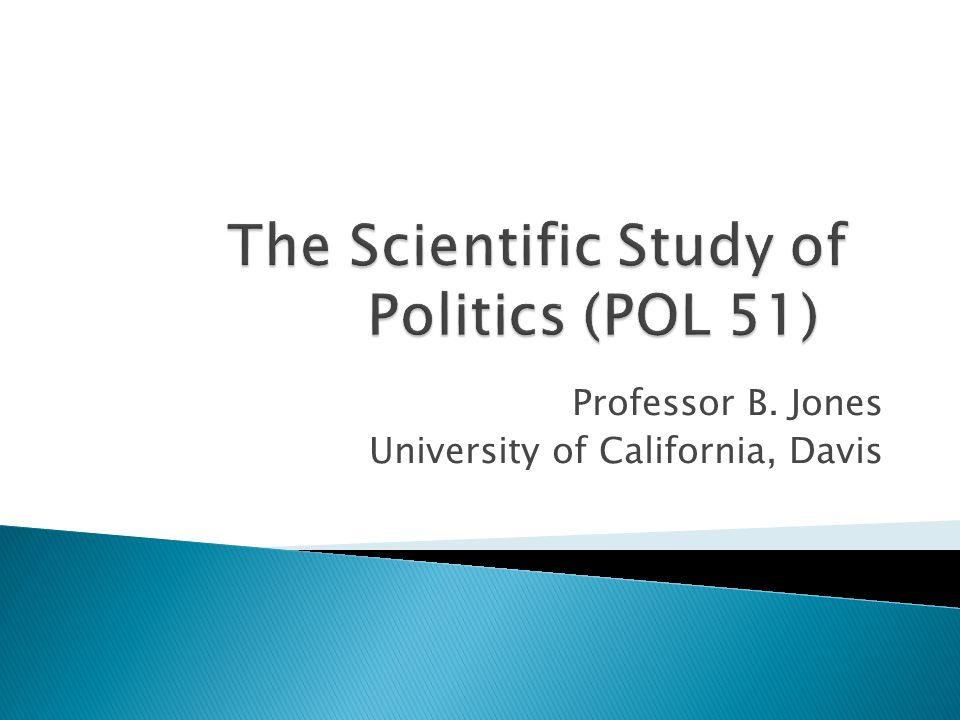 Professor B. Jones University of California, Davis