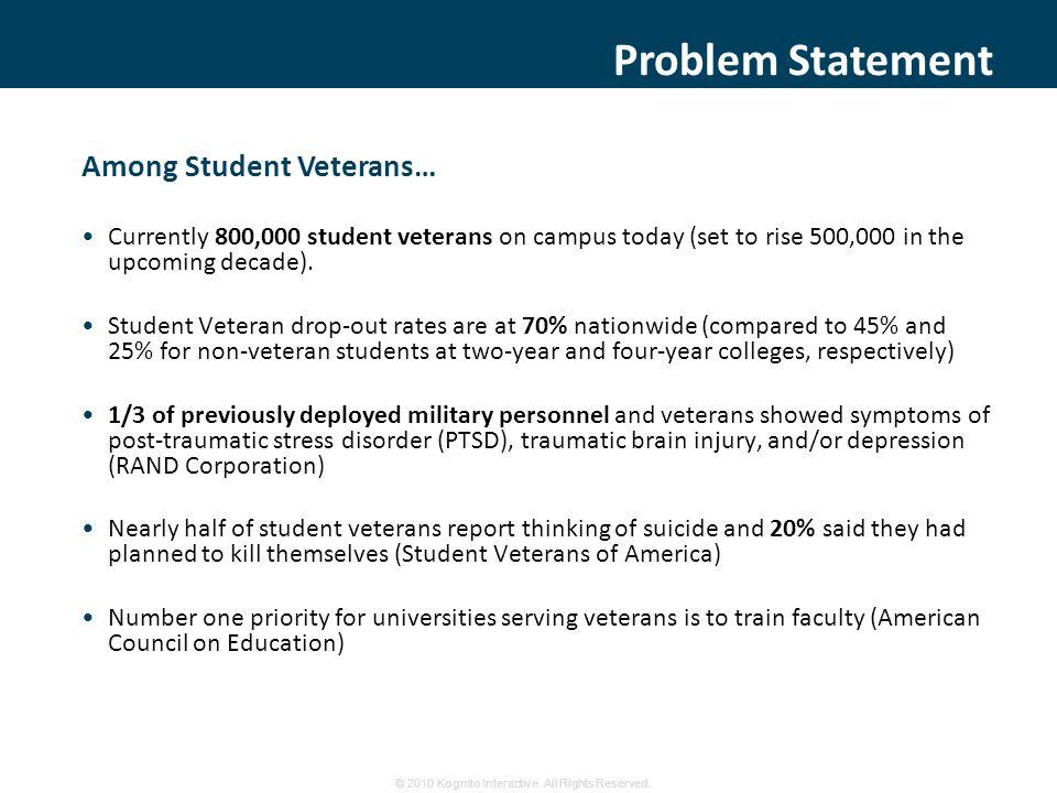 Veterans on Campus Training © 2010 Kognito Interactive.