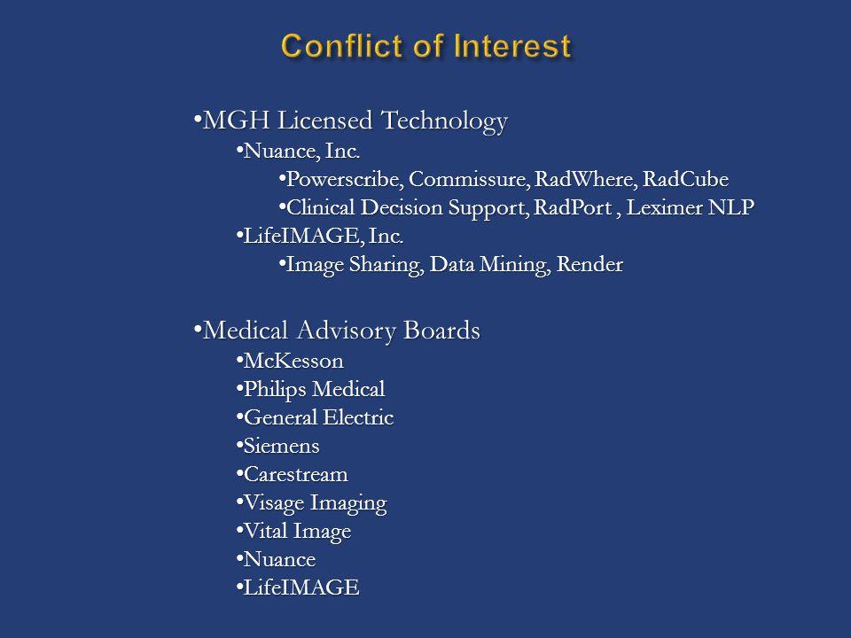MGH Licensed Technology MGH Licensed Technology Nuance, Inc.