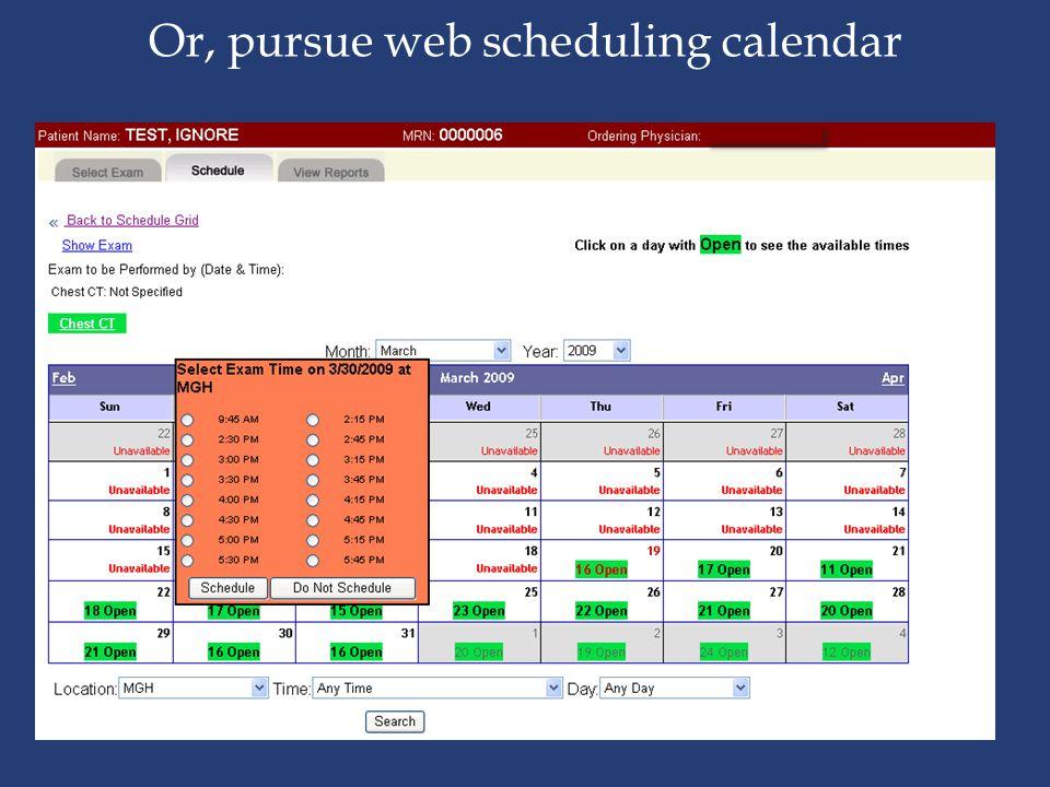 Or, pursue web scheduling calendar