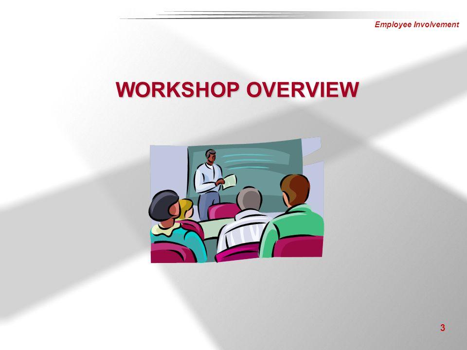 Employee Involvement 3 WORKSHOP OVERVIEW