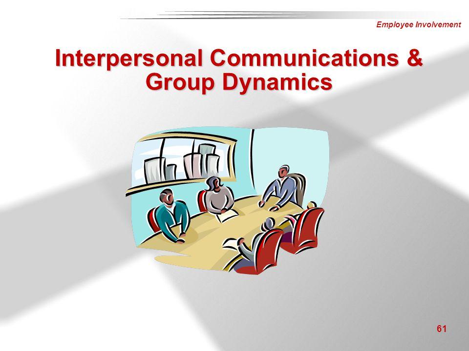 Employee Involvement 61 Interpersonal Communications & Group Dynamics