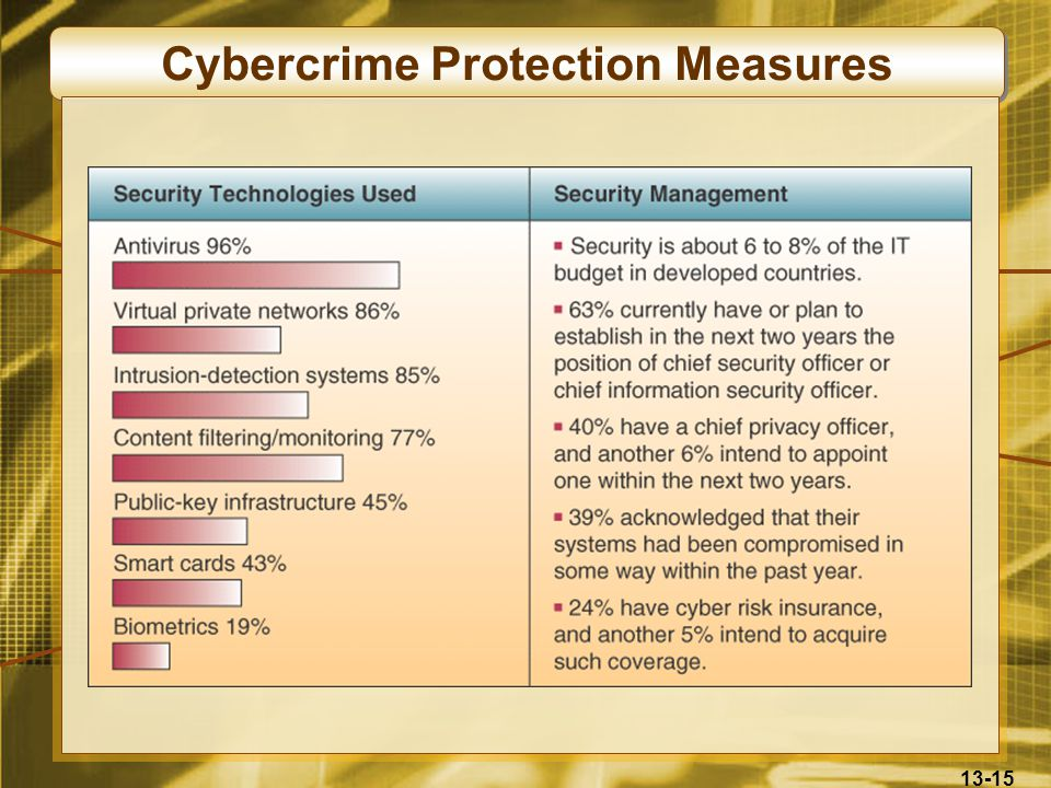 13-15 Cybercrime Protection Measures