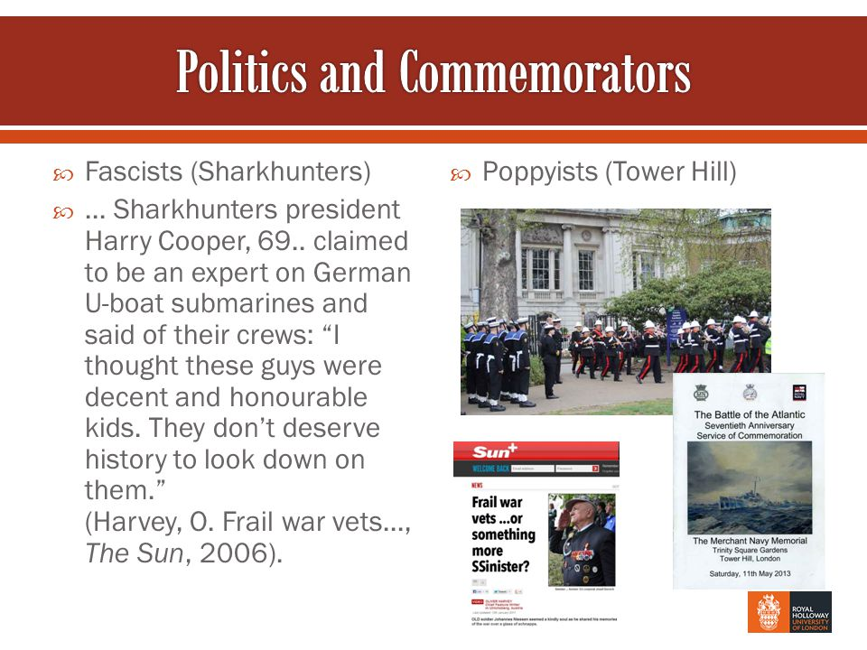  Fascists (Sharkhunters) ... Sharkhunters president Harry Cooper, 69..