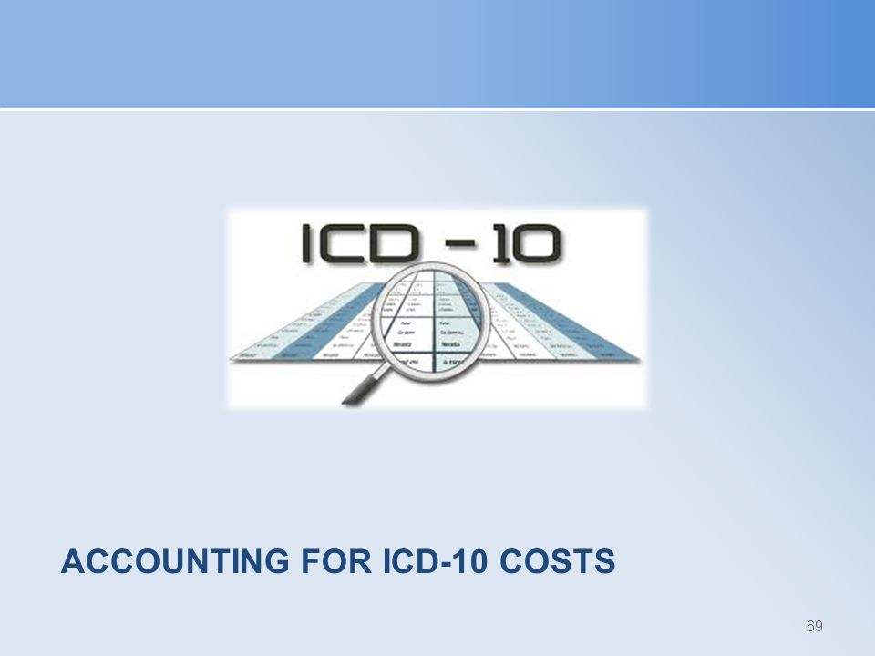 ACCOUNTING FOR ICD-10 COSTS 69