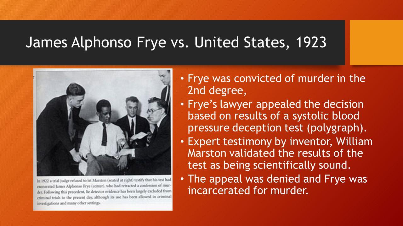 James Alphonso Frye vs.