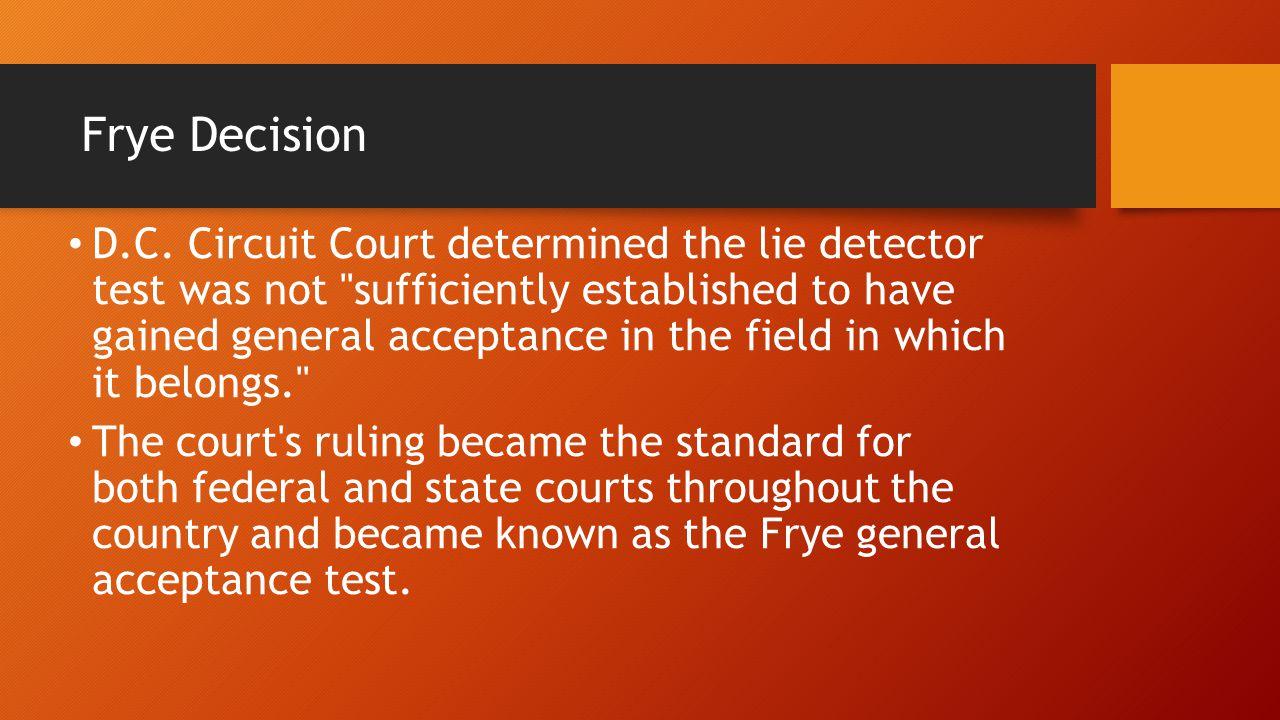 Frye Decision D.C.