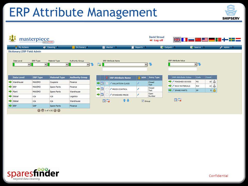 Confidential ERP Attribute Management