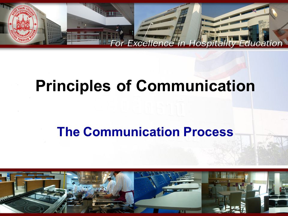 Principles of Communication The Communication Process