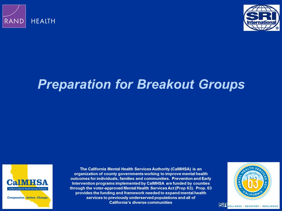 Preparation for Breakout Groups