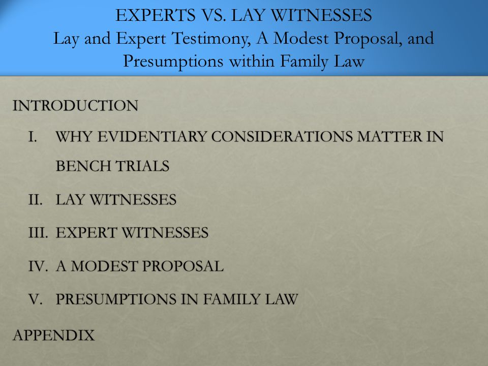 Application of Daubert Child Custody Evaluations KRAUSS/SALES, THE PROBLEM OF HELPFULNESS IN APPLYING DAUBERT TO EXPERT TESTIMONY: CHILD CUSTODY DETERMINATIONS IN FAMILY LAW AS AN EXEMPLAR: BECAUSE THE TESTIMONY IN CHILD CUSTODY CASES IS REALLY A MIXTURE OF SCIENCE AND CLINICAL OPINION (I.E., HYBRID TESTIMONY), THERE CAN BE NO QUESTION THAT DAUBERT'S AND JOINER'S TEACHINGS APPLY TO IT. GOULD/MARTINDALE, MENTAL HEALTH PROFESSIONALS INVOLVED IN CHILD CUSTODY LITIGATION: FROM COURT-APPOINTED EVALUATORS TO RETAINED EXPERTS: OUR FOCUS IS ON THE USE OF SCIENTIFIC METHODS IN CHILD CUSTODY ASSESSMENT REGARDLESS OF THE EVALUATOR'S PROFESSIONAL DISCIPLINE.