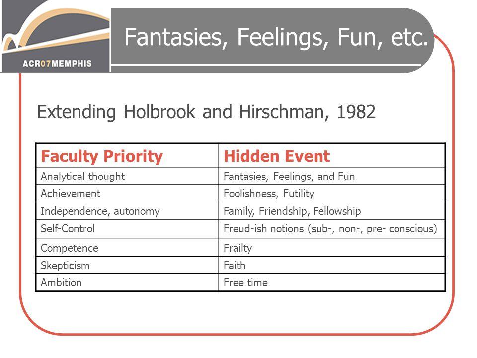 Fantasies, Feelings, Fun, etc.