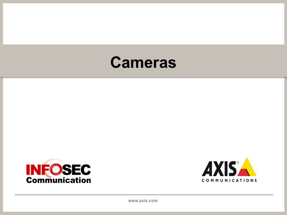 www.axis.com AXIS P3384-V / -VE The camera is suitable for installations close to large windows and entrances in buildings, in tunnel passages and other areas with bright sunlight and dark shadows, or other strong variations in light.