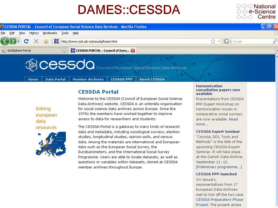 AHM 2008, 11 th September 2008 DAMES::CESSDA