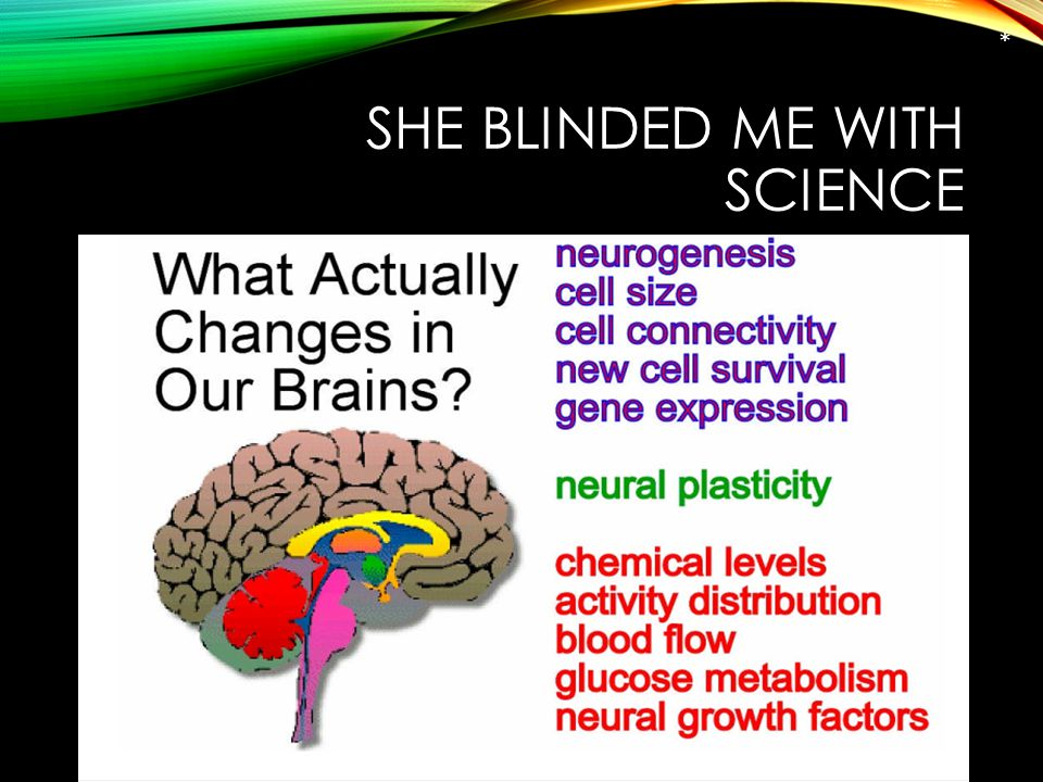 SHE BLINDED ME WITH SCIENCE *