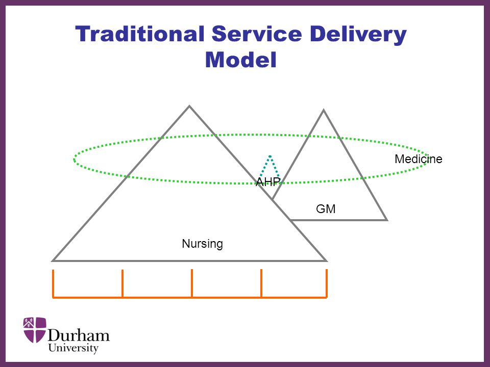 ∂ Traditional Service Delivery Model Nursing GM Medicine AHP