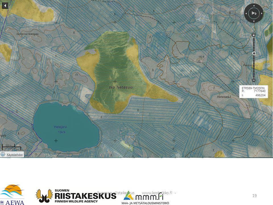 Suomen riistakeskus www.kosteikko.fi - www.riista.fi 19