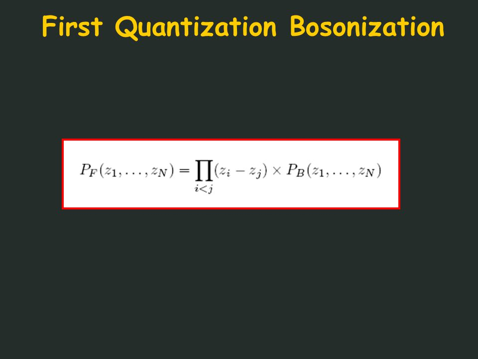 First Quantization Bosonization