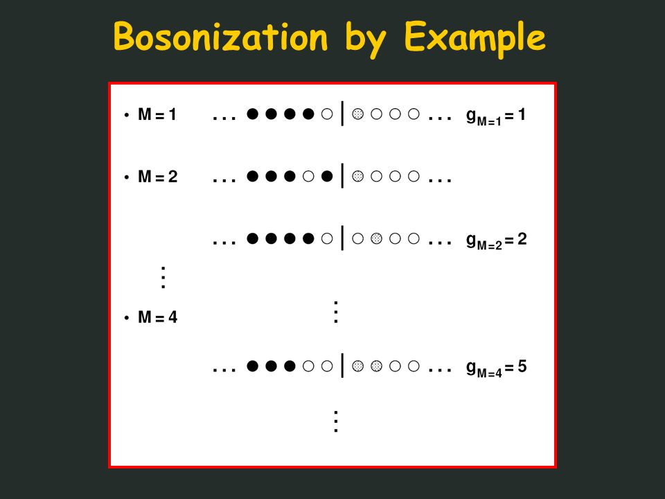 Bosonization by Example