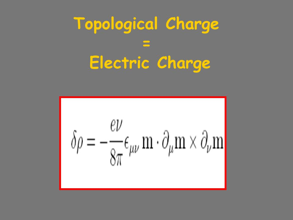 Topological Charge = Electric Charge