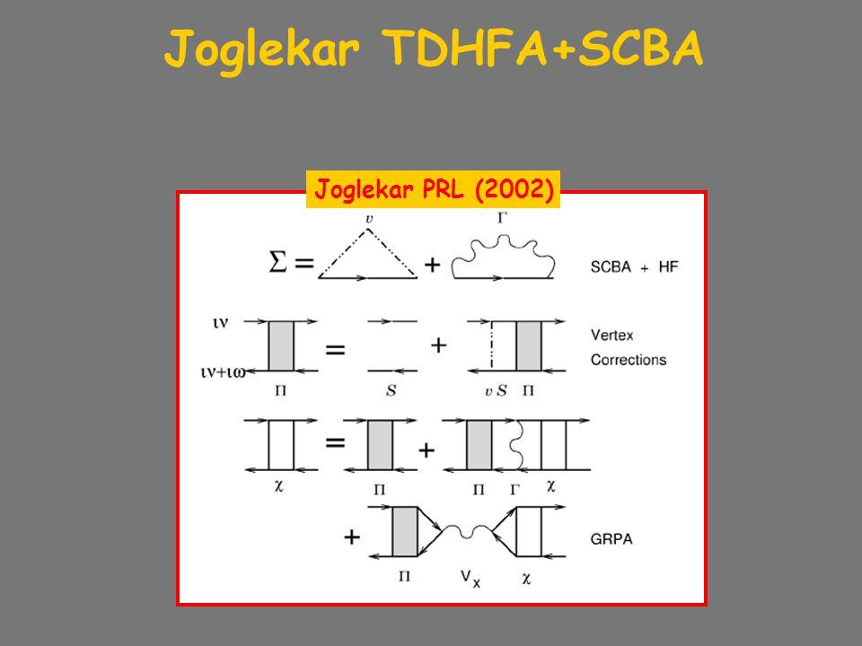 Joglekar TDHFA+SCBA Joglekar PRL (2002)