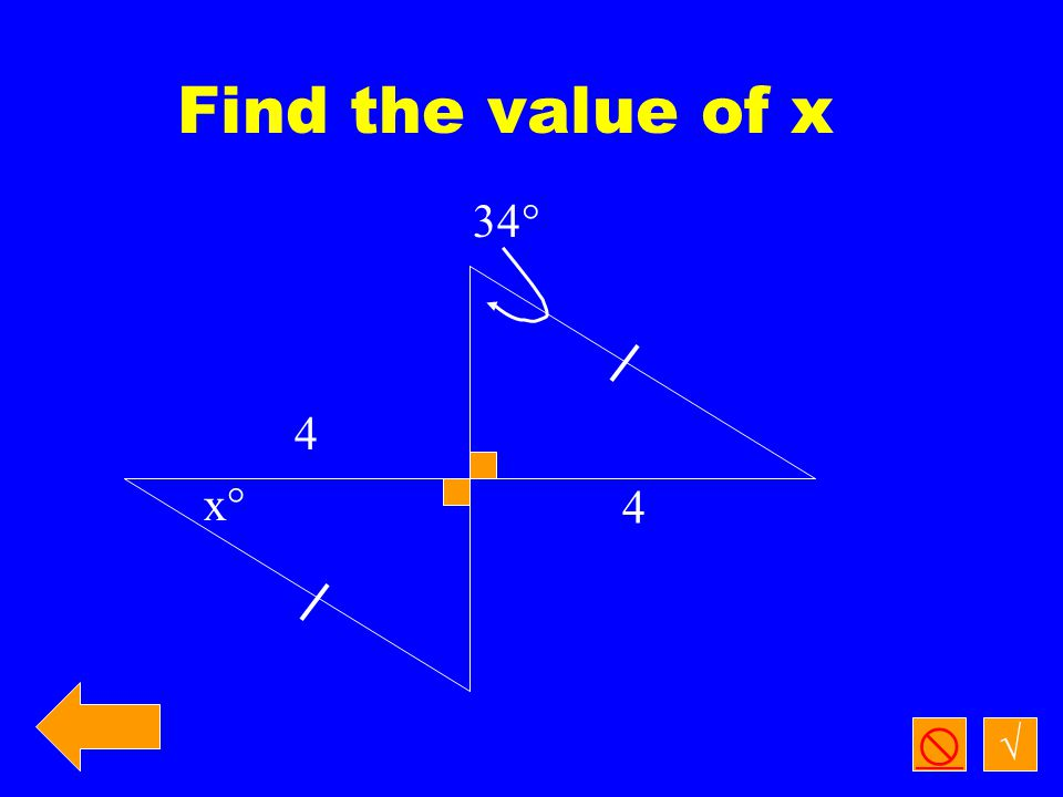 Find the value of x and classify the triangle √  6x  10 x