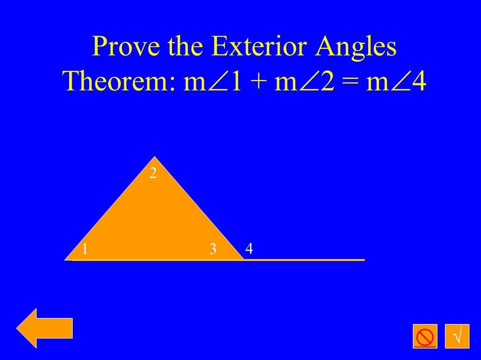 √  Given:  A   B, CA ┴AB, D is the midpoint of AB, AC  BC Prove:  ACD   BCD (using no shortcuts) A D B C