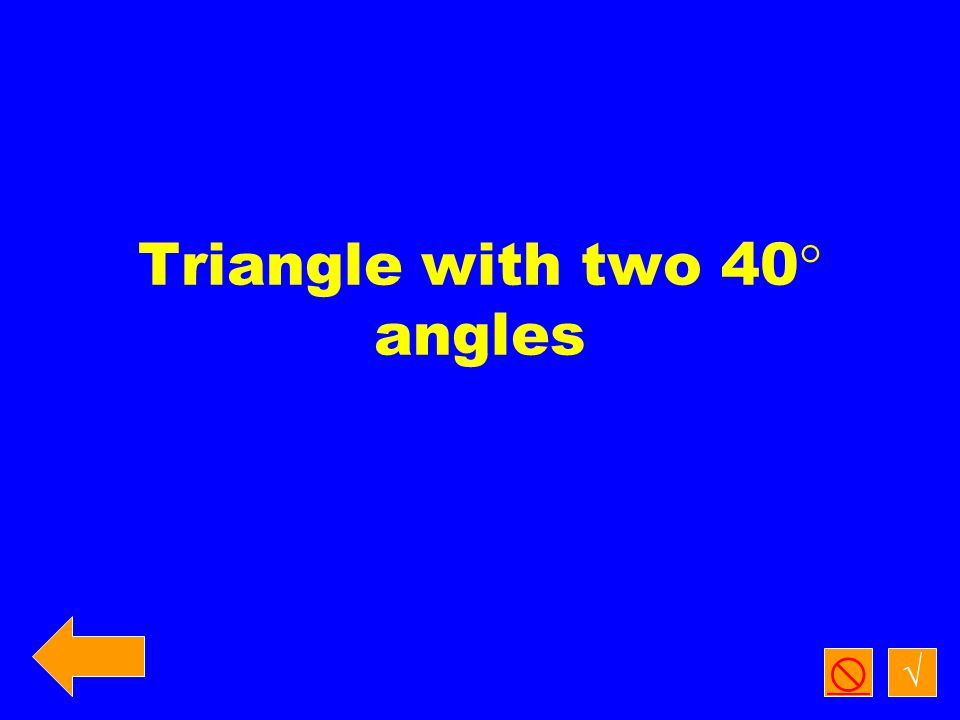 Classify all three triangles by side length. √  A B D C 35 65