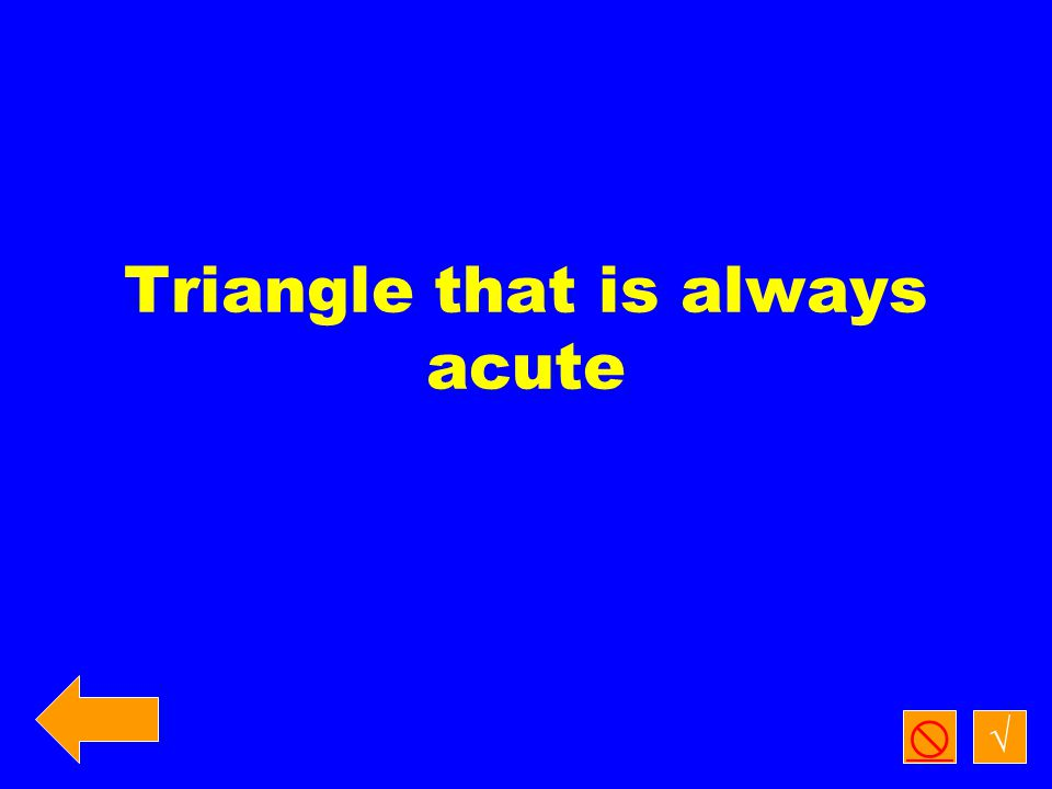 Triangle with a 30 degree angle and a 60 degree angle. √ 