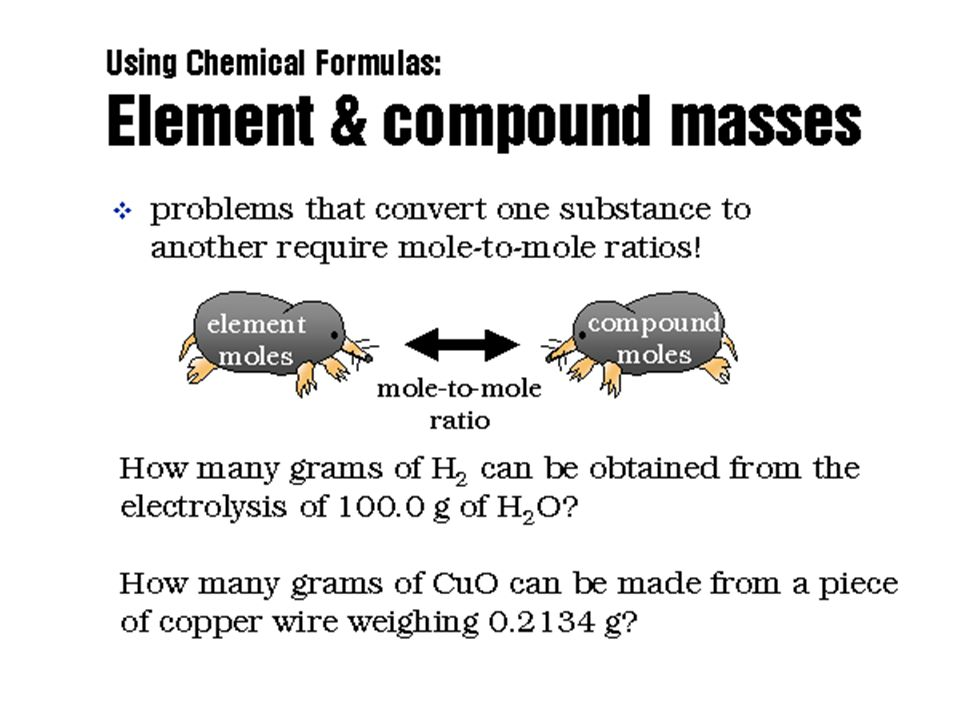Molar Mass Molar mass of compounds and elements is used to convert:Molar mass of compounds and elements is used to convert: given mass → given moles a