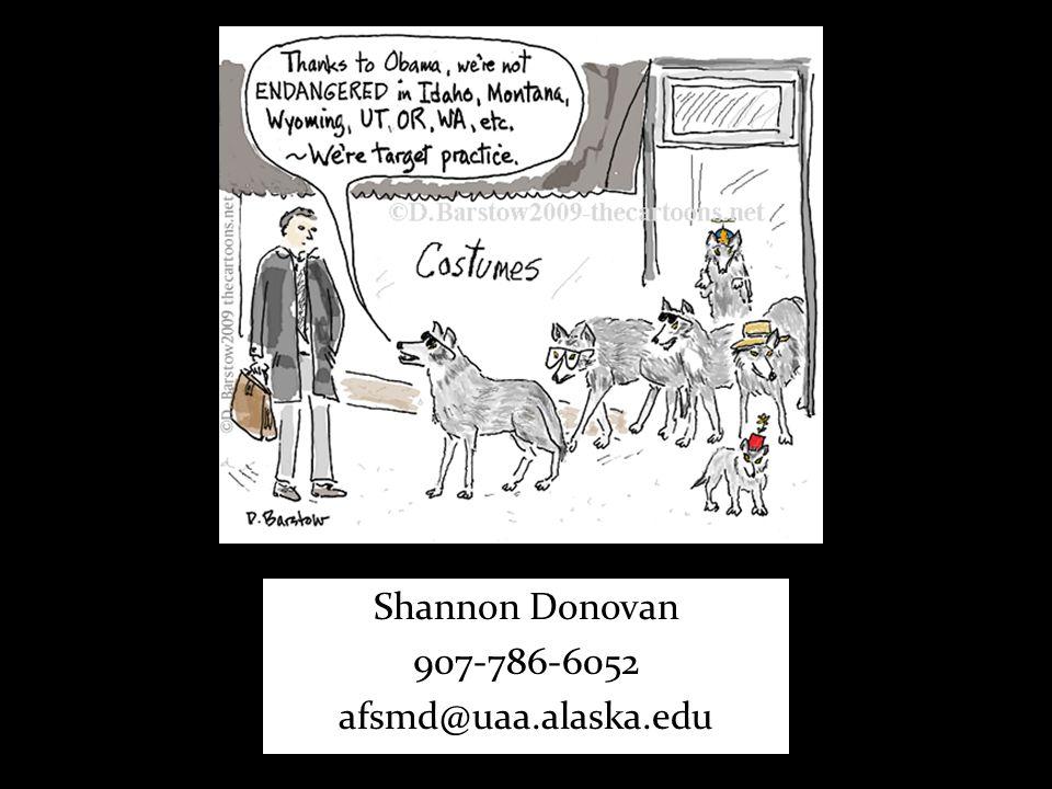 Shannon Donovan 907-786-6052 afsmd@uaa.alaska.edu