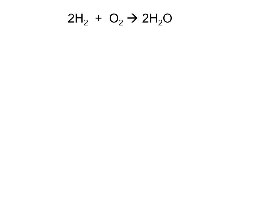 2H 2 + O 2  2H 2 O