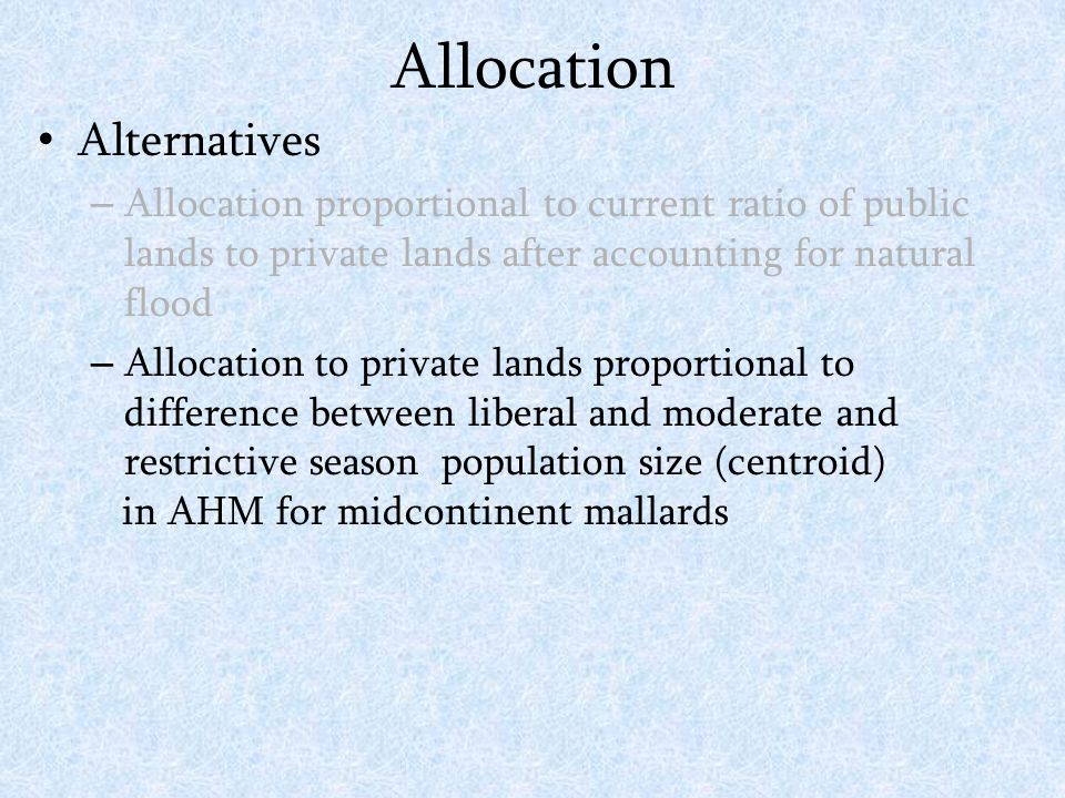AHM-based Allocation Equilibrium BPOP (LMVJV Wintering Population) Sustainable Annual Harvest Current Condition K Habitat Loss K Expanded Habitat K The effect of habitat change on yield curves