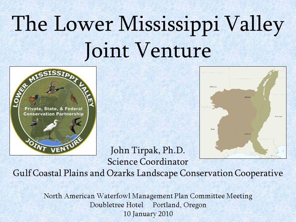 The Lower Mississippi Valley Joint Venture John Tirpak, Ph.D.