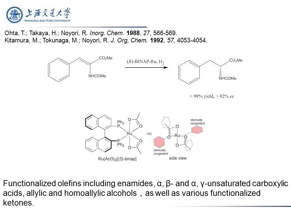 Ohta, T.; Takaya, H.; Noyori, R. Inorg. Chem. 1988, 27, 566-569.