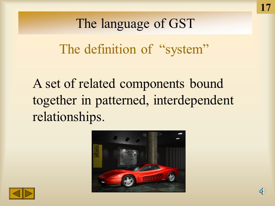 """16 The language of GST The definition of """"system"""" A system is not a """"heap."""" The parts of a heap are not connected to each other. Another term for a he"""
