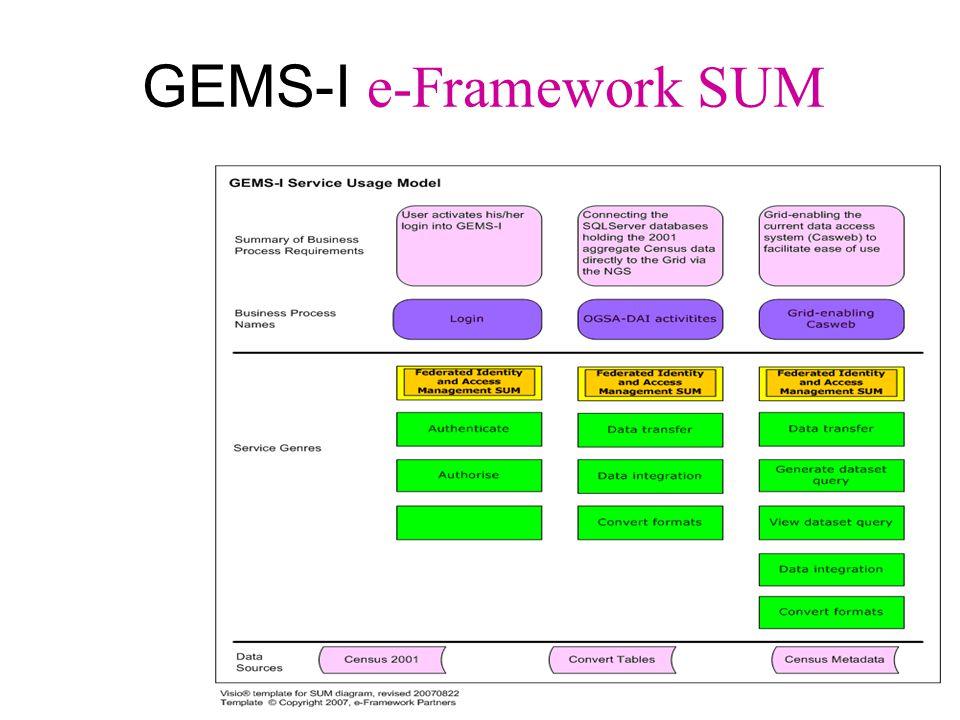 GEMS-I e-Framework SUM