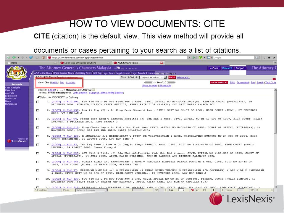 Together, We Can HOW TO VIEW DOCUMENTS: CITE CITE (citation) is the default view.