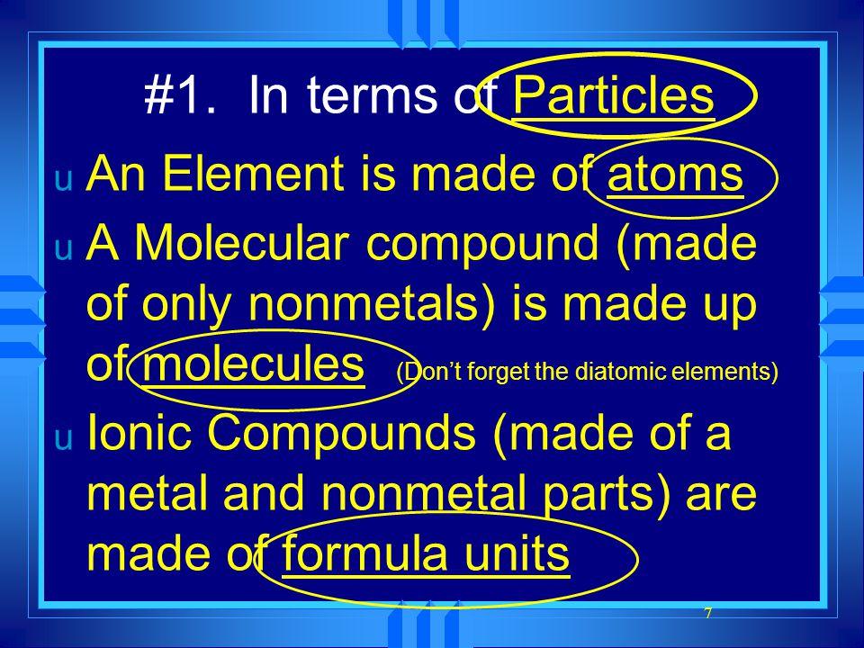 8 Example: 2H 2 + O 2 → 2H 2 O u Two molecules of hydrogen and one molecule of oxygen form two molecules of water.