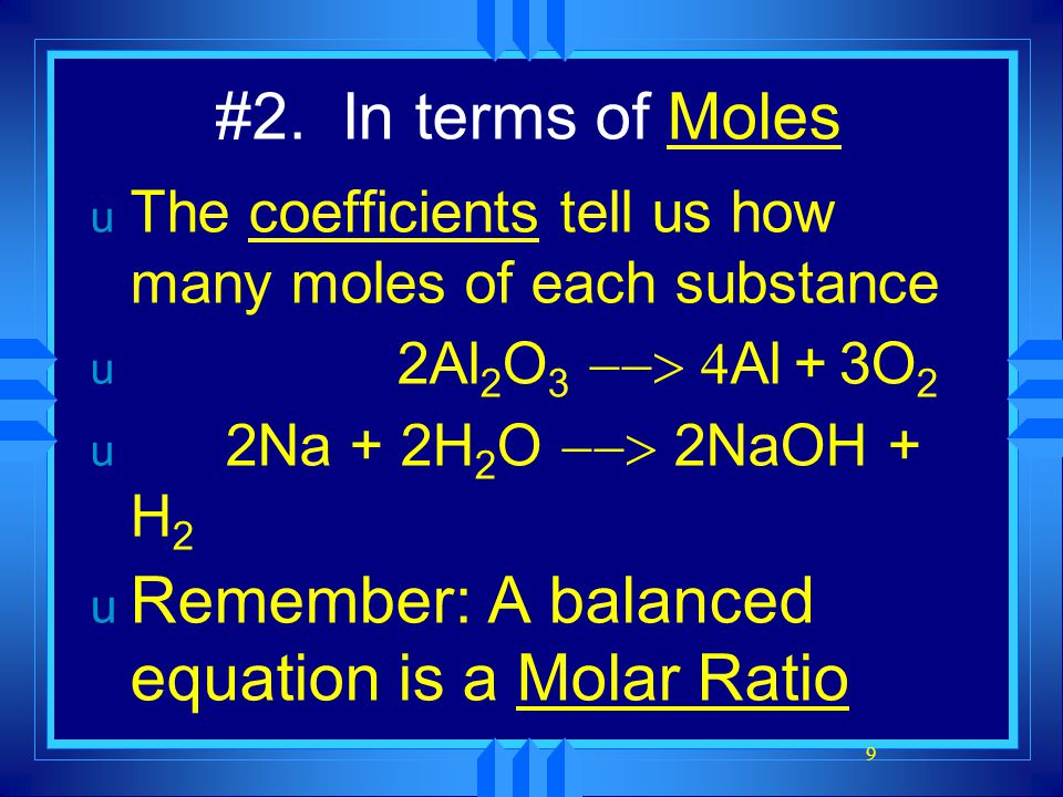 20 Steps to Calculate Stoichiometric Problems 1.Correctly balance the equation.