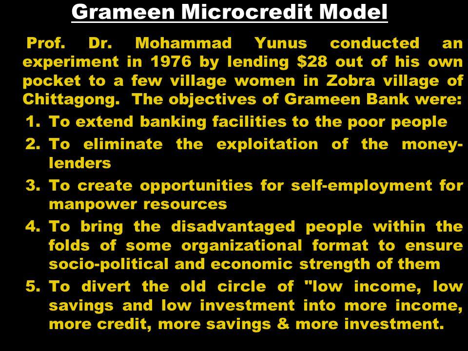 Grameen Microcredit Model Prof. Dr.