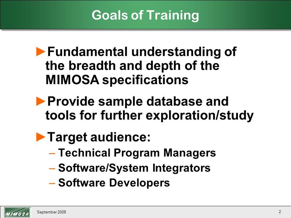 September 2008 133 MIMOSA Open Maintenance Management