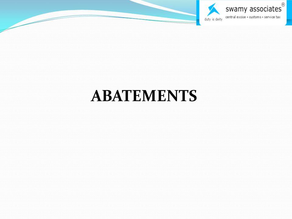 ABATEMENTS