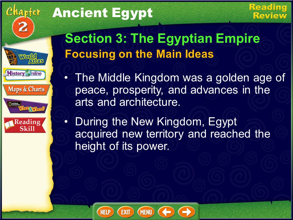 Section 2: Egypt's Old Kingdom Egypt was ruled by all-powerful pharaohs. The Egyptians believed in many gods and goddesses and in life after death for