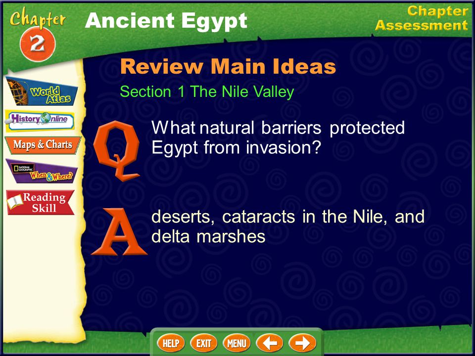 __ 1.area of fertile soil at the end of a river __ 2.reed plant used to make baskets, rafts, and paper __ 3.grassy plain __ 4.rapids __ 5.Egyptian wri