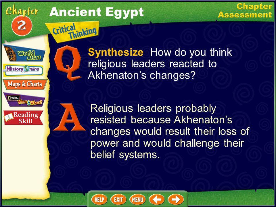 Describe Identify the four social groups in ancient Egypt, and explain who belonged to each group. Top: pharaoh and royal family; Upper class: priests